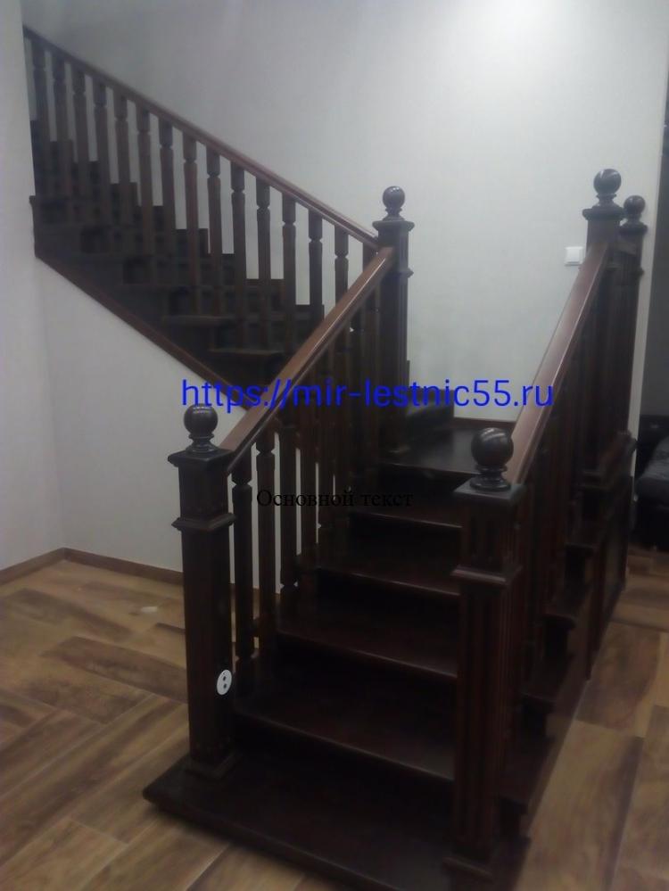 Лестница на заказ из лиственницы